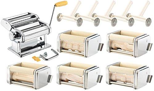 rosenstein s hne nudelmaschinen nudel maschine nm 100 mit 6 aufs tzen pasta maker f r. Black Bedroom Furniture Sets. Home Design Ideas