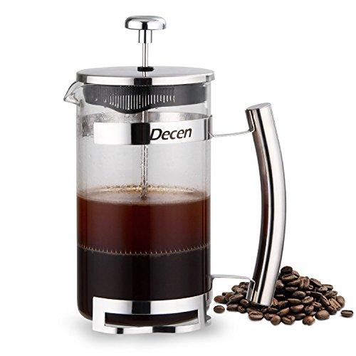 decen kaffeebereiter mit french press system kaffee und teemaschine edelstahlfilter enthaltet. Black Bedroom Furniture Sets. Home Design Ideas