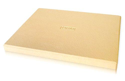 Kesper 64205 Flammkuchenbrett, helles Holz, Maße 38 x 32 x 0 8 cm, Länge mit Griff 52 cm  ~ 01235330_Backstein Schamotte Aus Cordierit