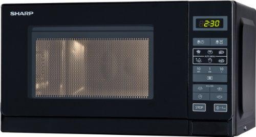 sharp electronics r242bkw mikrowelle 800w auto minutenstart kurzzeitmesser 8 gar und. Black Bedroom Furniture Sets. Home Design Ideas