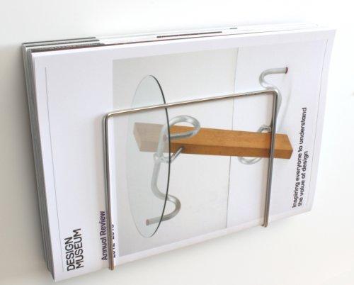 zeitschriftenhalter f r das badezimmer aus edelstahl wandmontage plew plew k chenfertig. Black Bedroom Furniture Sets. Home Design Ideas
