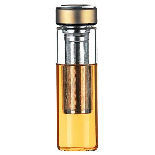 justfwater trinkflasche glas teebereiter tee flasche mit sieb fruit infuser wasserflasche bpa. Black Bedroom Furniture Sets. Home Design Ideas
