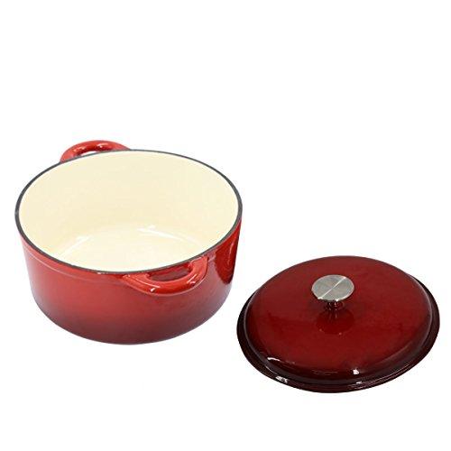 gusseisen kasserolle 4 liter mit deckel 26cm kochtopf reine br ter mit deckel schmortopf. Black Bedroom Furniture Sets. Home Design Ideas