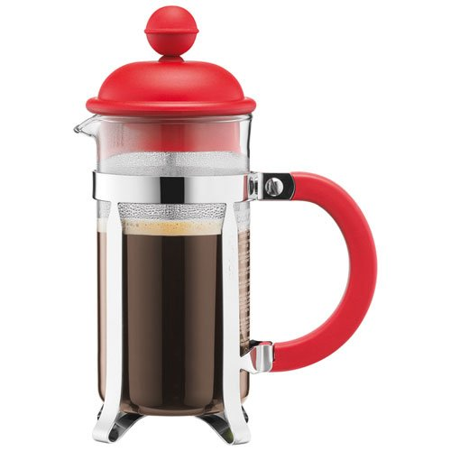 bodum caffettiera kaffeebereiter french press system permanent edelstahlfilter 0 35 liters rot. Black Bedroom Furniture Sets. Home Design Ideas