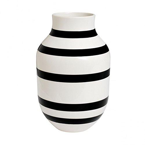 vase omaggio schwarz wei keramik h he 30 5 cm 18 6 cm k hler design k chenfertig