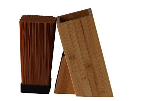 universal messerblock im schlichten holzdesign in zwei varianten bambus oder schwarz lackiert. Black Bedroom Furniture Sets. Home Design Ideas