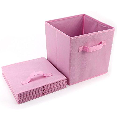 anladia 4 st ck rosa faltbare aufbewahrungsbox faltbox mit fingerloch ohne deckel k chenfertig. Black Bedroom Furniture Sets. Home Design Ideas