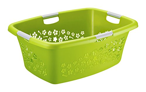w schekorb flowers rotho kunststoff plastik pp gr n. Black Bedroom Furniture Sets. Home Design Ideas