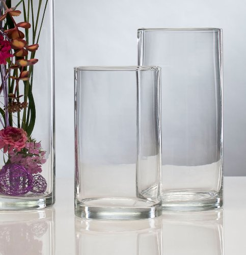 glasvase vase glas blumenvase tischvase zylinder 25 cm k chenfertig. Black Bedroom Furniture Sets. Home Design Ideas