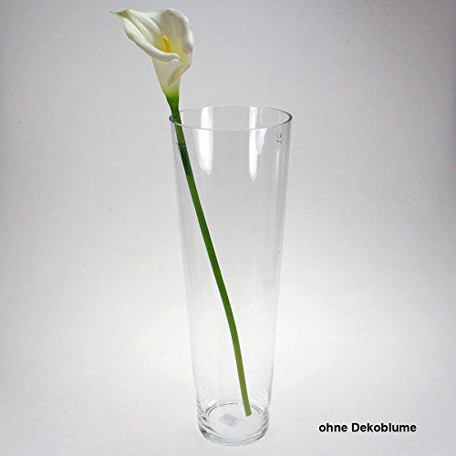 vase glas bodenvase tischvase glasvase gro h he 50cm d 17cm klar k chenfertig. Black Bedroom Furniture Sets. Home Design Ideas