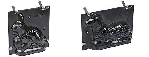 2 tlg kaiser ostern edition backformen set hase lamm antihaftbeschichtung k chenfertig. Black Bedroom Furniture Sets. Home Design Ideas