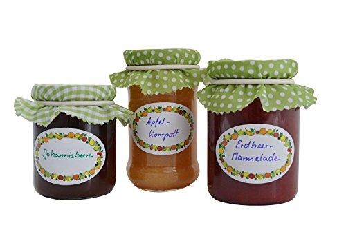 Jumbo pack einmachetiketten 3 x 100 stk haushaltsetiketten selbstklebend f r marmelade - Marmelade einkochen glaser ...