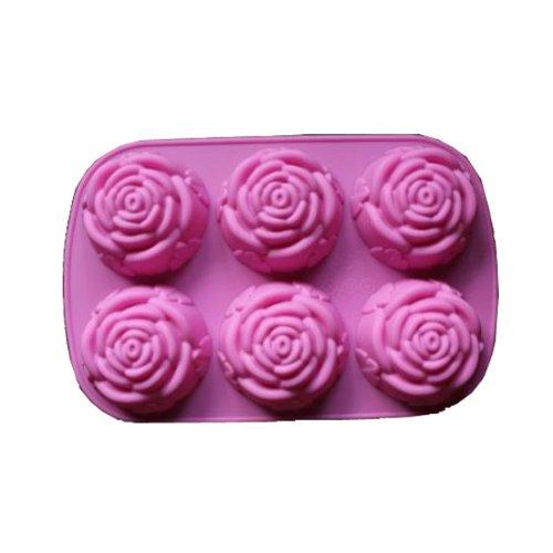 bestofferbuy silikon backform 6 rosen muffin eisw rfelform backen sechs rosen pro form neu. Black Bedroom Furniture Sets. Home Design Ideas