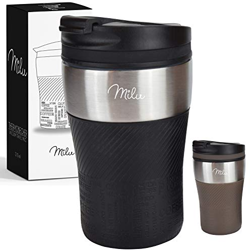 travel mug schwarz milu thermobecher isolierbecher. Black Bedroom Furniture Sets. Home Design Ideas