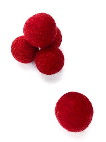 20 filzkugeln 2cm 100 filzwolle in 71 farben zum aussuchen bunt wei oder rot zum basteln von. Black Bedroom Furniture Sets. Home Design Ideas