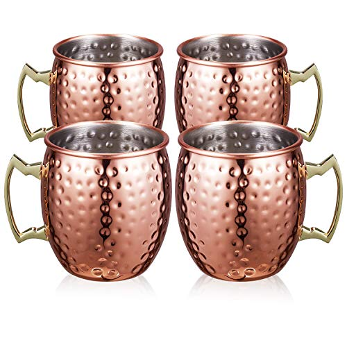 supersun set 4er moscow mule becher kupferbecher moscow mule mug kupfer becher set of 530ml f r. Black Bedroom Furniture Sets. Home Design Ideas